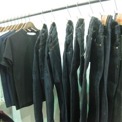Jeans in the Self Edge booth.