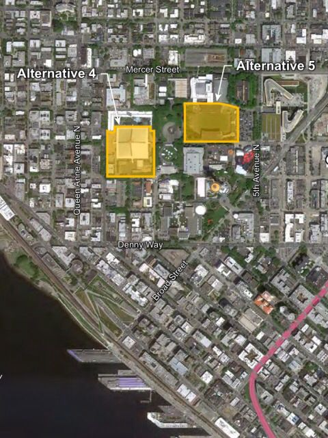 Sonics Arena EIS Seattle Center map (image: City of Seattle)