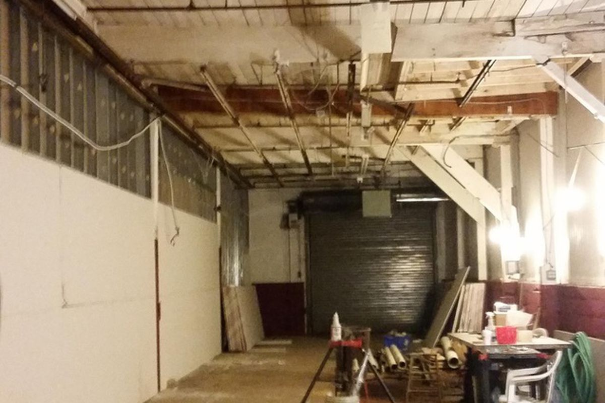 Bone Up Brewing Company taproom under construction