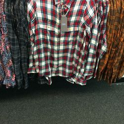 Flannel blouse, size M, $76 (was $245)