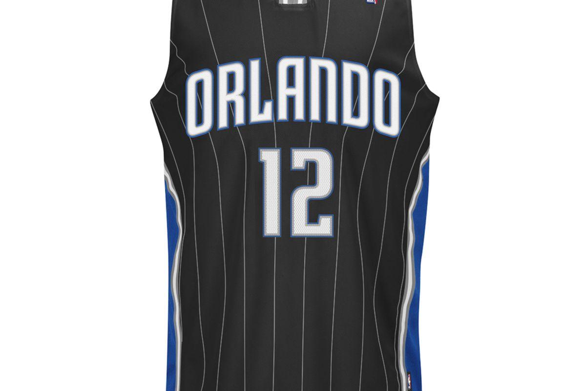 Orlando Magic black uniform front view