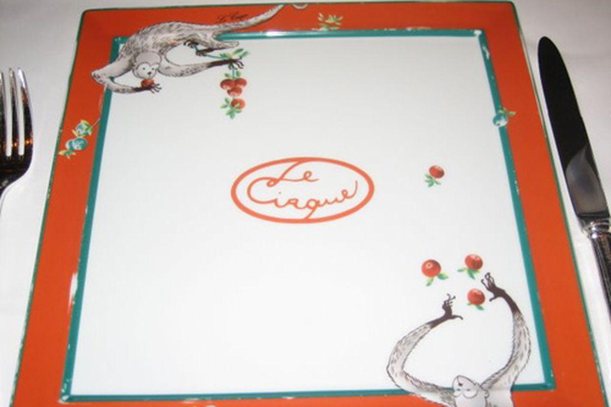The famous Le Cirque china. Photo courtesy of Le Cirque.