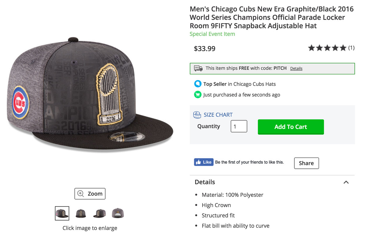 Men s Chicago Cubs New Era Graphite Black 2016 World Series Champions  Official Parade Locker Room 9FIFTY Snapback Adjustable Hat fd5c4b5e0e1