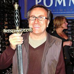 """D-Biggity found this sword inside a rock in the Lyon countryside.  The rest is history. (<a href=""""http://urbandiner.ca/2008/11/17/events-events-and-more-events/"""" rel=""""nofollow"""">photo</a>)"""