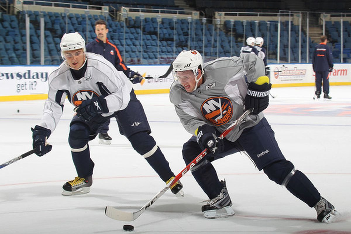 Would Kirill Petrov be backchecking like that if he didn't think he might be back at the Coliseum in October? (Okay, so it was just a drill.)