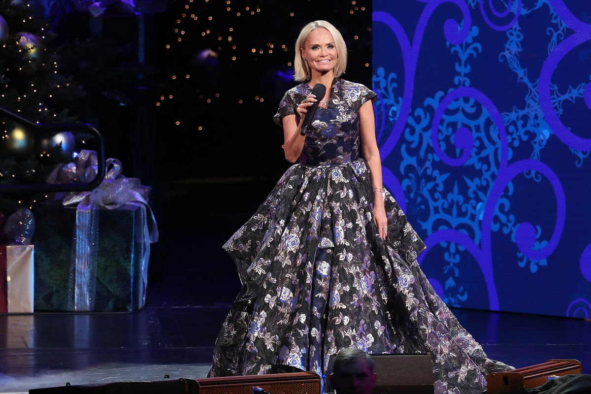 """Kristin Chenoweth sings with the Tabernacle Choir at Temple Square during their opening Christmas concert at the Conference Center in Salt Lake City on Thursday, Dec. 13, 2018. Chenoweth will perform in """"The Disney Family Singalong"""" on Thursday, April 16."""