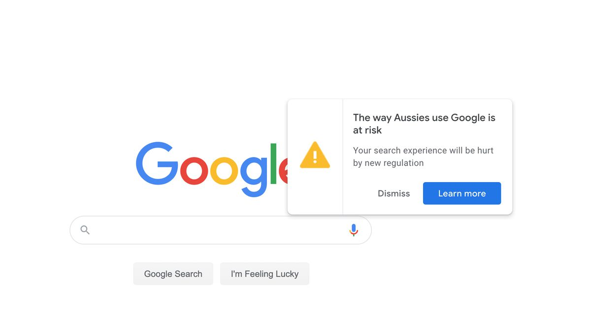 Google lobbies Australian users against plans to make it pay for news – The Verge