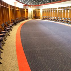 Another view of the Cubs' clubhouse