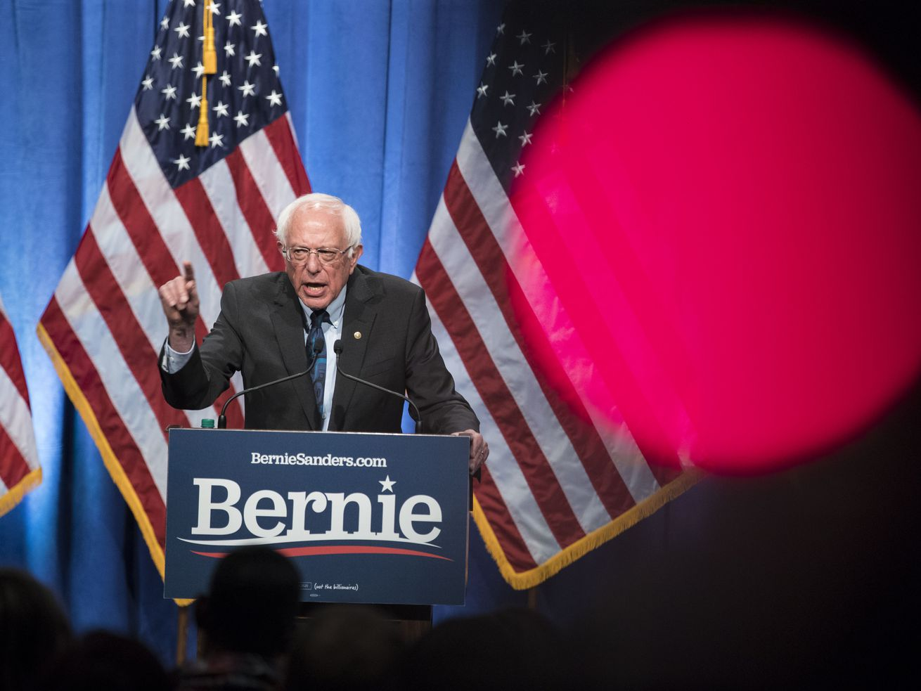 Sen. Bernie Sanders (I-VT) gave a speech on his political philosophy of democratic socialism on June 12, 2019, in Washington, DC.