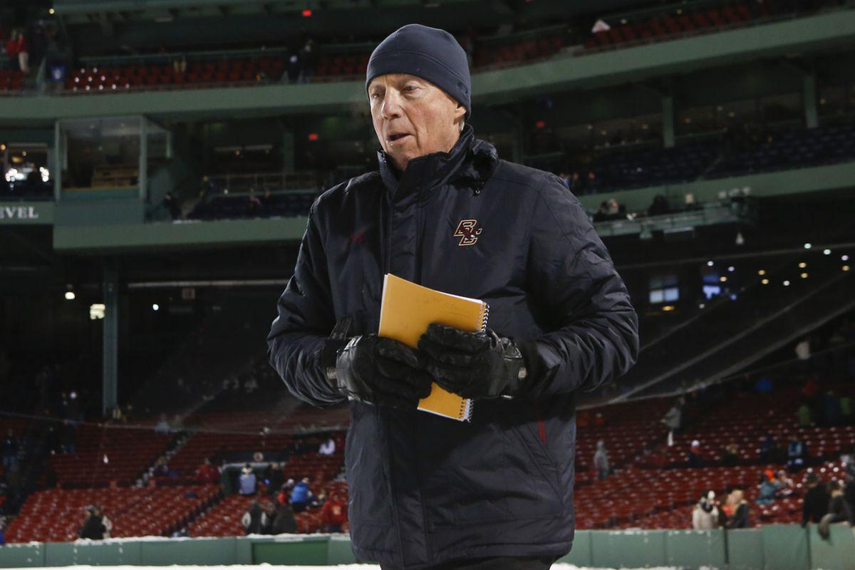 Boston College head coach Jerry York