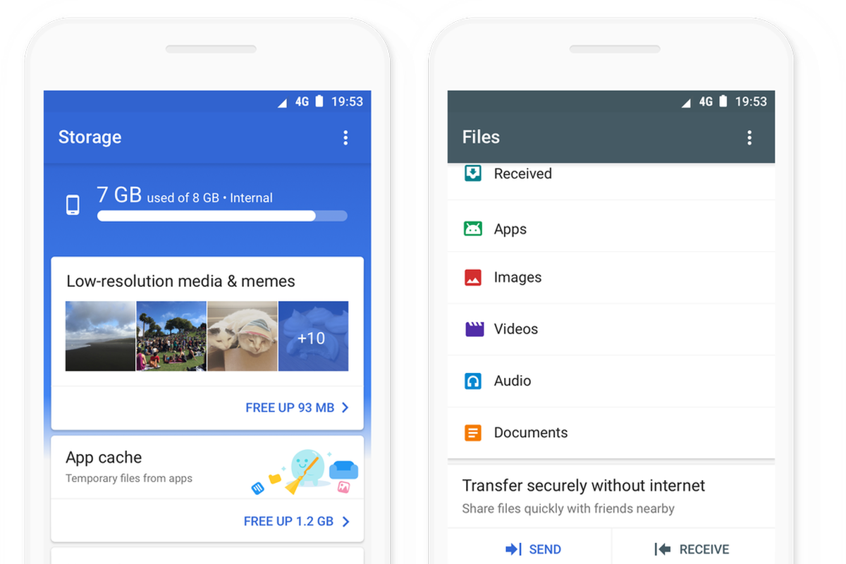 Similar To Le S Airdrop Google Files Go Lets You Transfer Directly Between Devices At Sds Up 125mbps Without It Costing Mobile Data