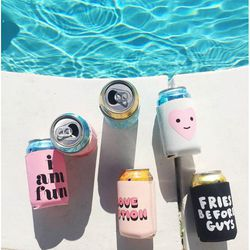Keep your LaCroix/Stawberita/Kombucha cool with these adorable coozies.