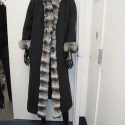 Chinchilla and wool coat, $850—$1200