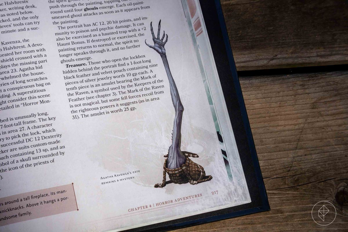Final art shows the Bagman's long, willowy arm reaching up our of a tiny bag of holding.