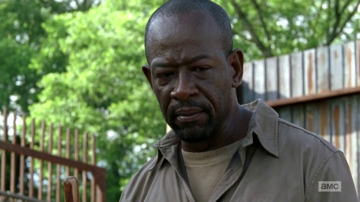 Morgan makes some tough choices on The Walking Dead.