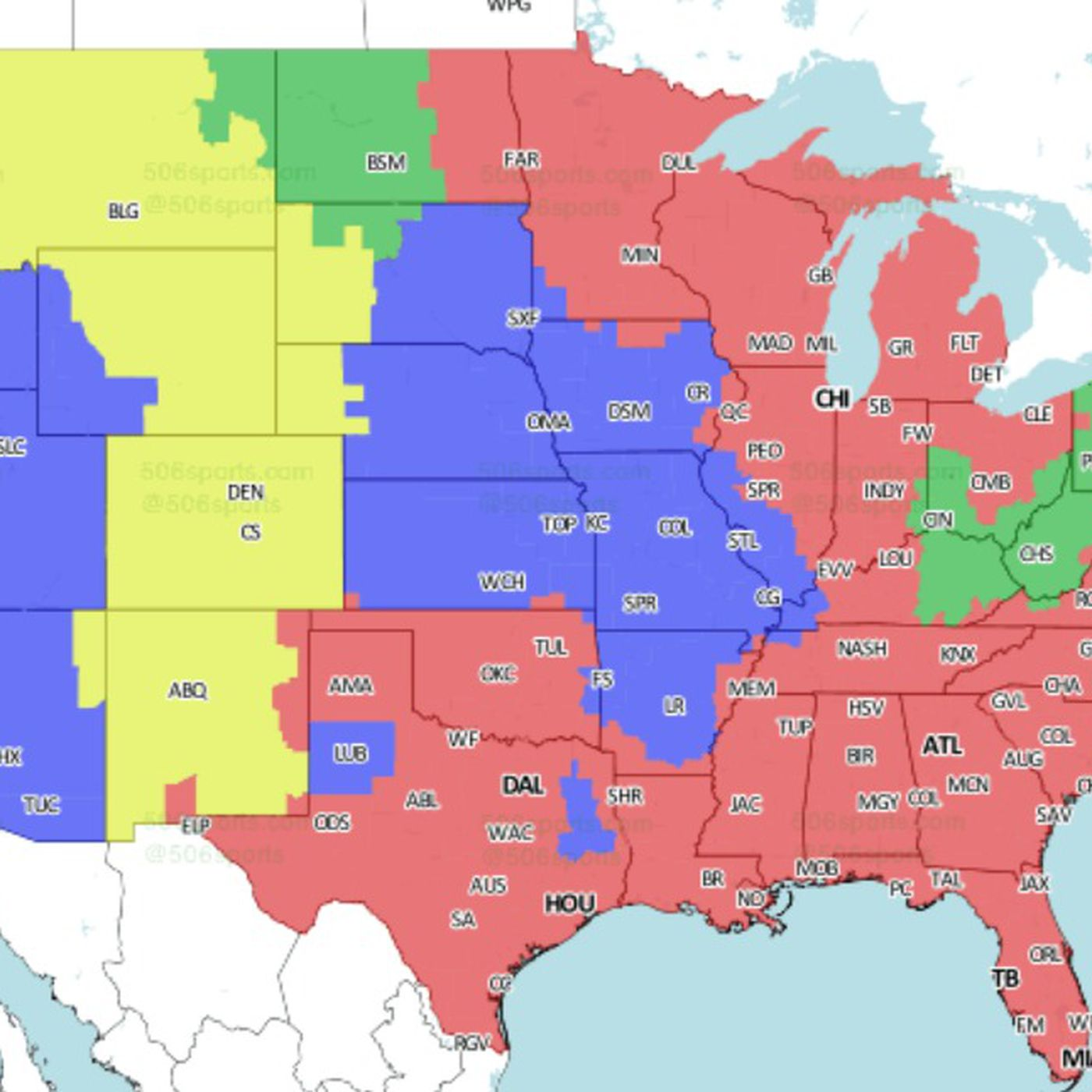2018 NFL Distribution Map  Check out if you will get to see the Steelers  vs. Bengals game in Week 17 5821ba8c1