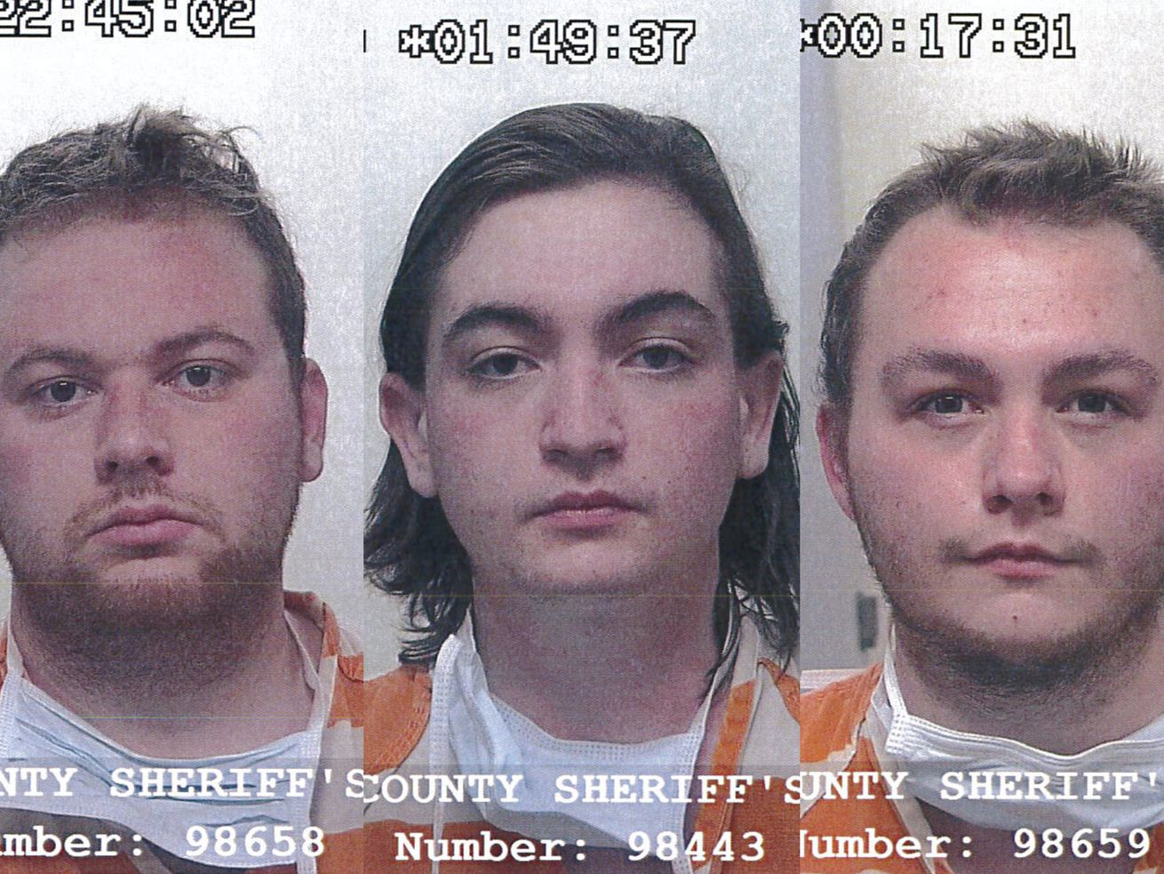 """Hakop """"Jack"""" Keshishian, 20, of Sandy, left; Wyatt William Smelser, 20, of Cottonwood Heights, center; and Izaiah Kirkpatrick, 20, of Draper, right, are each charged with murdering Chance Eggett, 21, in a remote area of Tooele County in May of 2020. Charges against Kirkpatrick and Keshishian have now been upgraded to capital murder."""