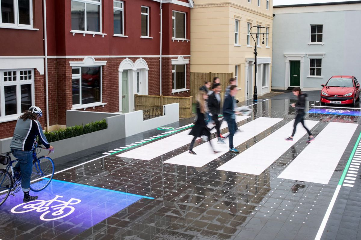 Smart Crosswalk Reacts To Cars And Pedestrians In Real