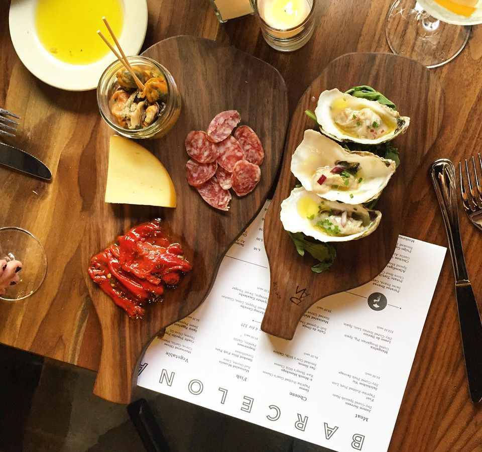 Small plates at Barcelona Wine Bar