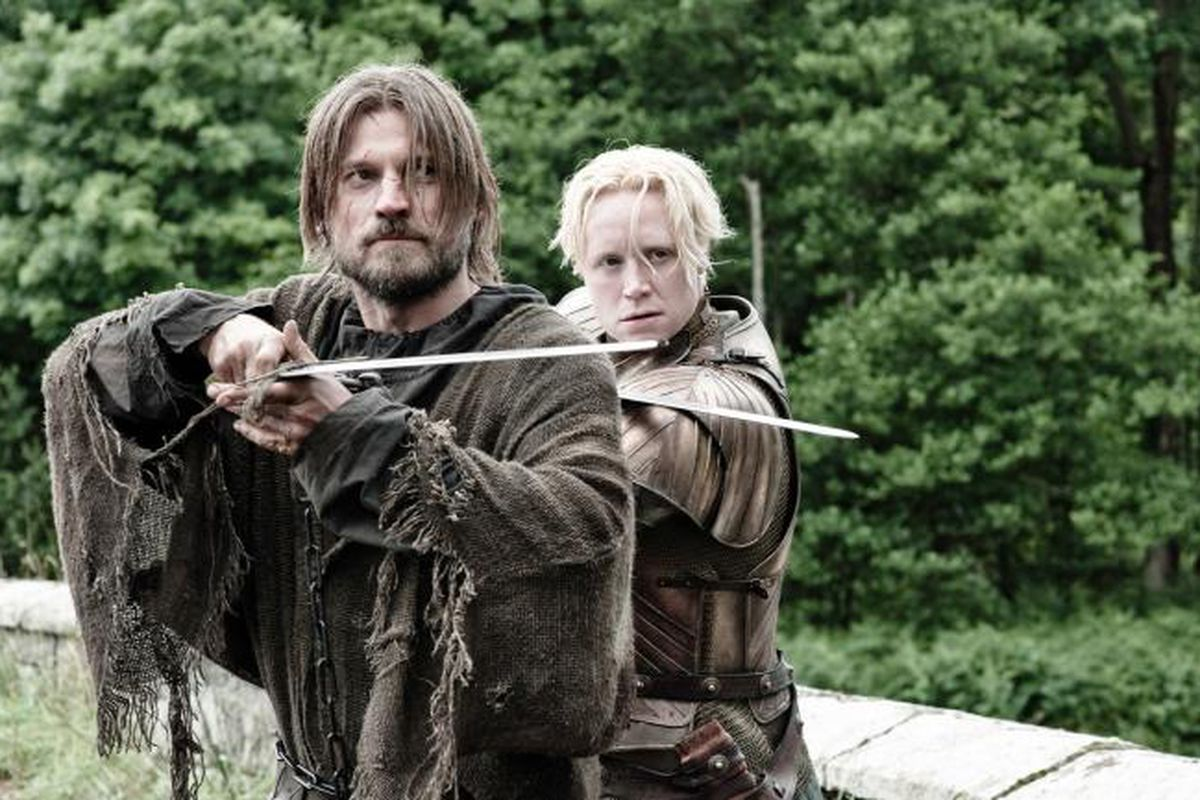 Brienne and Jamie on the road