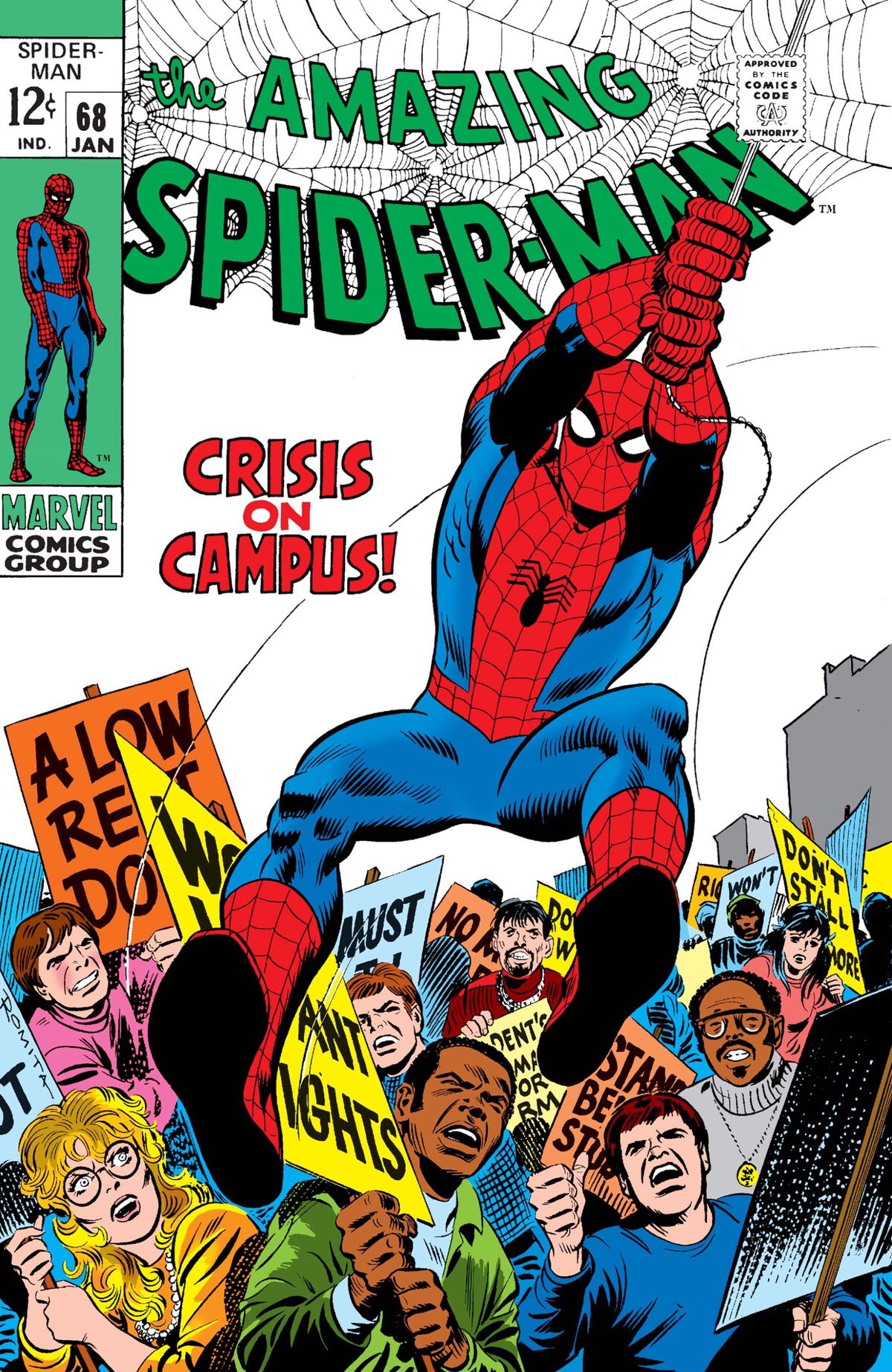 The cover of The Amazing Spider-Man #68, Marvel Comics (1968).