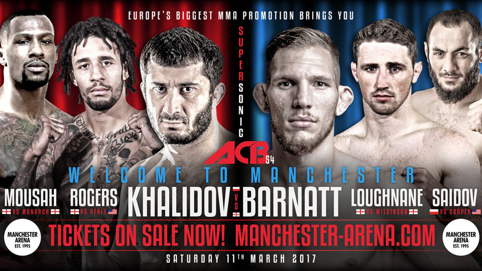 ACB 54: Live results and Action from Manchester, England