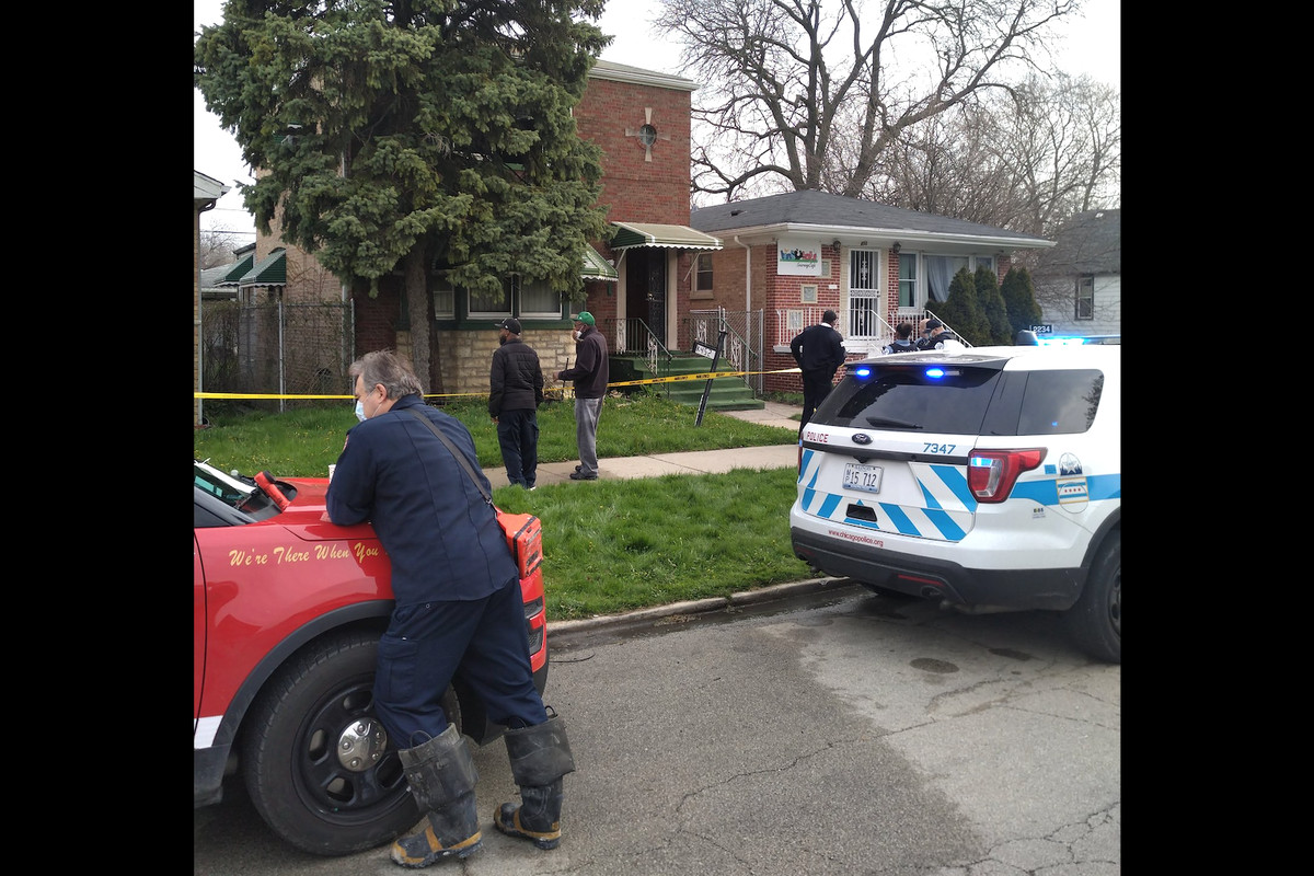 A man was found dead in a fire April 23, 2020, in the 400 block of West 104th Street in Fernwood.