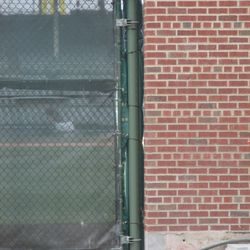 Closeup detail of Gate Q with padding -