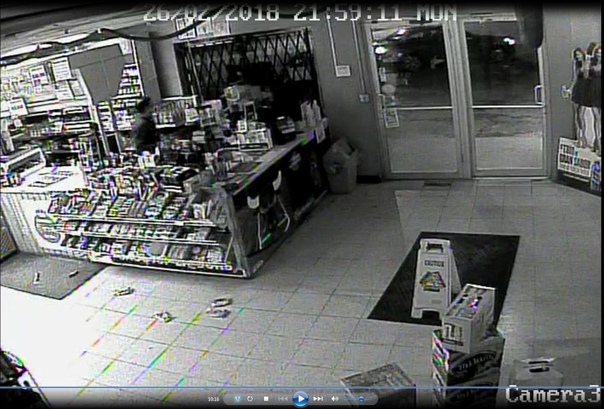 Surveillance image of a car used in an armed robbery Feb. 26 at One Stop Liquors, 1401 Prairie St. in St. Charles. | St. Charles police