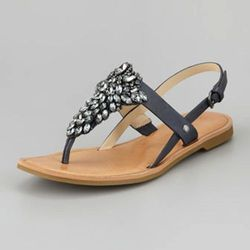 """These are the perfect summer sandals, the kind that can take you from the beach to the bar. The pretty detailing makes them worth the splurge, but luckily the price is down right now. $101, <a href=""""http://www.cusp.com/product.jsp?rte=%252Fetemplate%252Fp"""