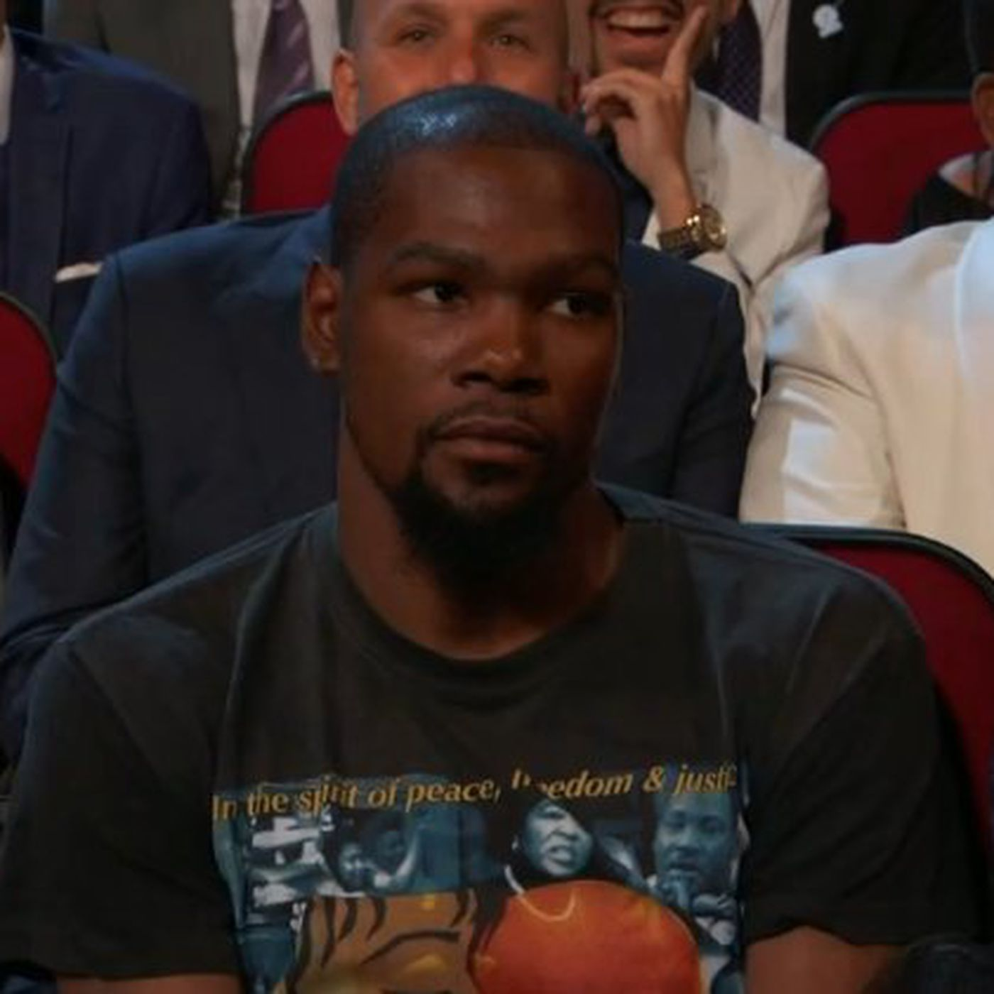 1a4dc5aeea96 Kevin Durant was not thrilled when Peyton Manning made a joke about him at  the ESPYs