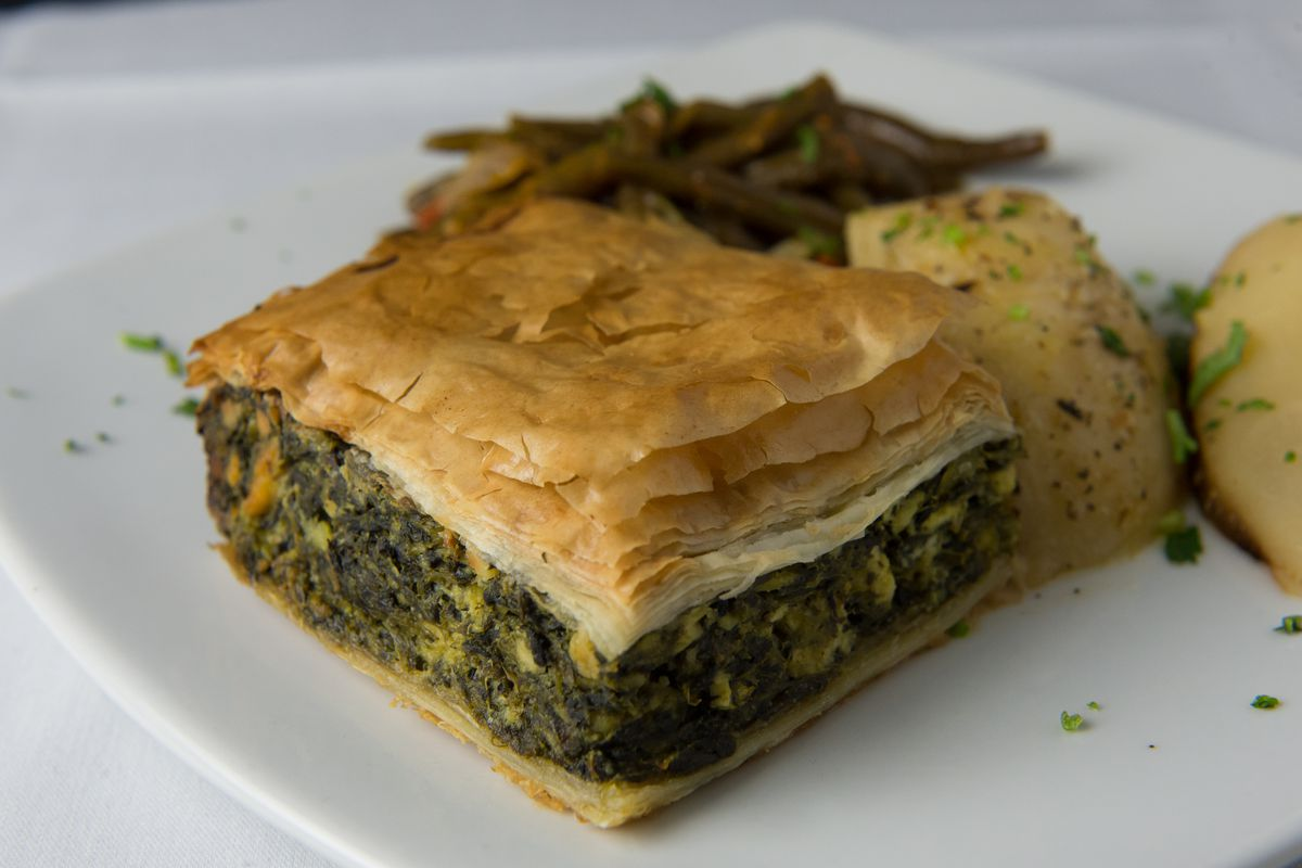 SILVER SPRING, MD - NOVEMBER 22: The spanakopita at the Greek