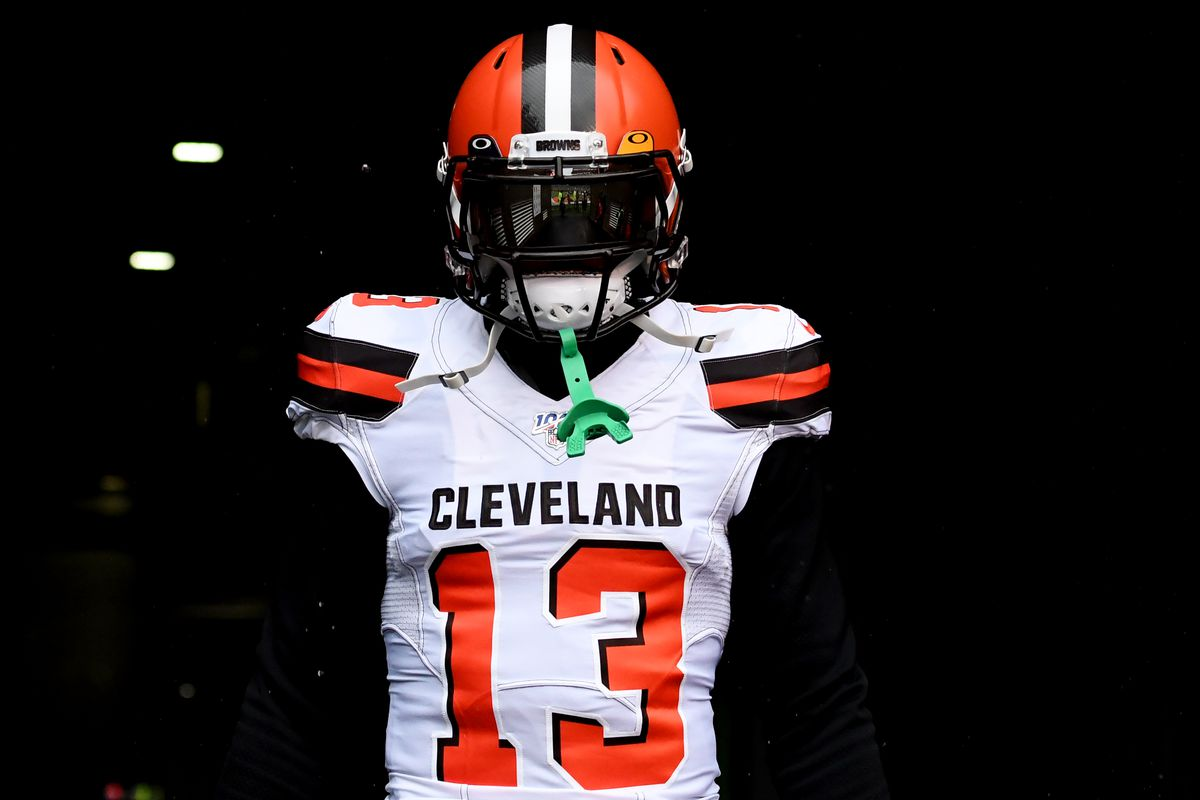 Wide receiver Odell Beckham Jr. #13 of the Cleveland Browns walks out of the tunnel prior to a game against the Cincinnati Bengals on December 29, 2019 at Paul Brown Stadium in Cincinnati, Ohio. Cincinnati won 33-23.
