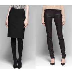 """<a href=""""http://www.theory.com/rita-pencil-skirt/C0501328,default,pd.html?dwvar_C0501328_color=001&start=39&cgid=womens-just-in""""><b>Theory</b> Rita Tailor Skirt</a> $200 and <a href=""""http://www.theory.com/IMA-LEATHER/C0700201,default,pd.html?dwvar_C070020"""
