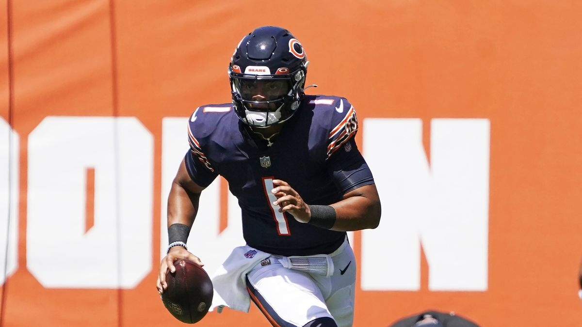 The Bears traded up from No. 20 to 11 to take Justin Fields as their new franchise quarterback.
