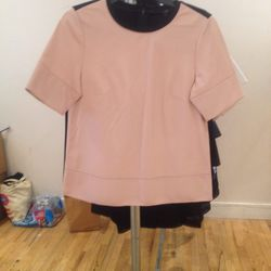 Leather top, $150