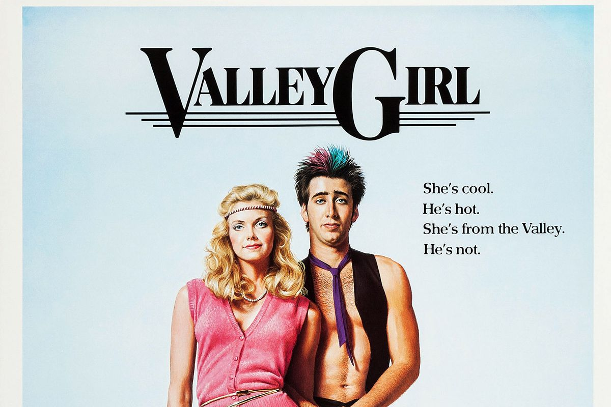 The original movie poster from Valley Girl.