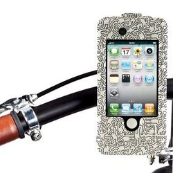 Keith Haring iCrew4 ($49.95) - The bike mount for iPhone 4S/4/3G/3GS has a shockproof design, is water-resistant and can be rotated 360 degrees.
