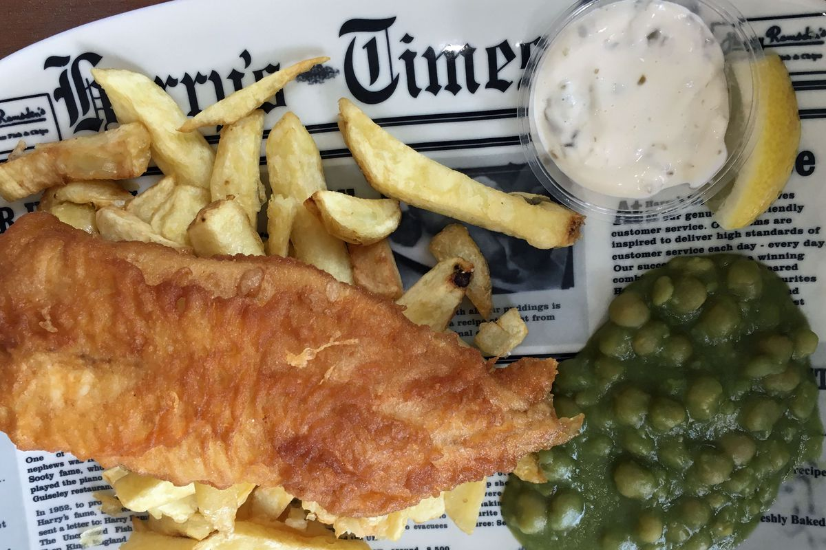 Fish and Chips, Harry Ramsden's, Bournemouth, England