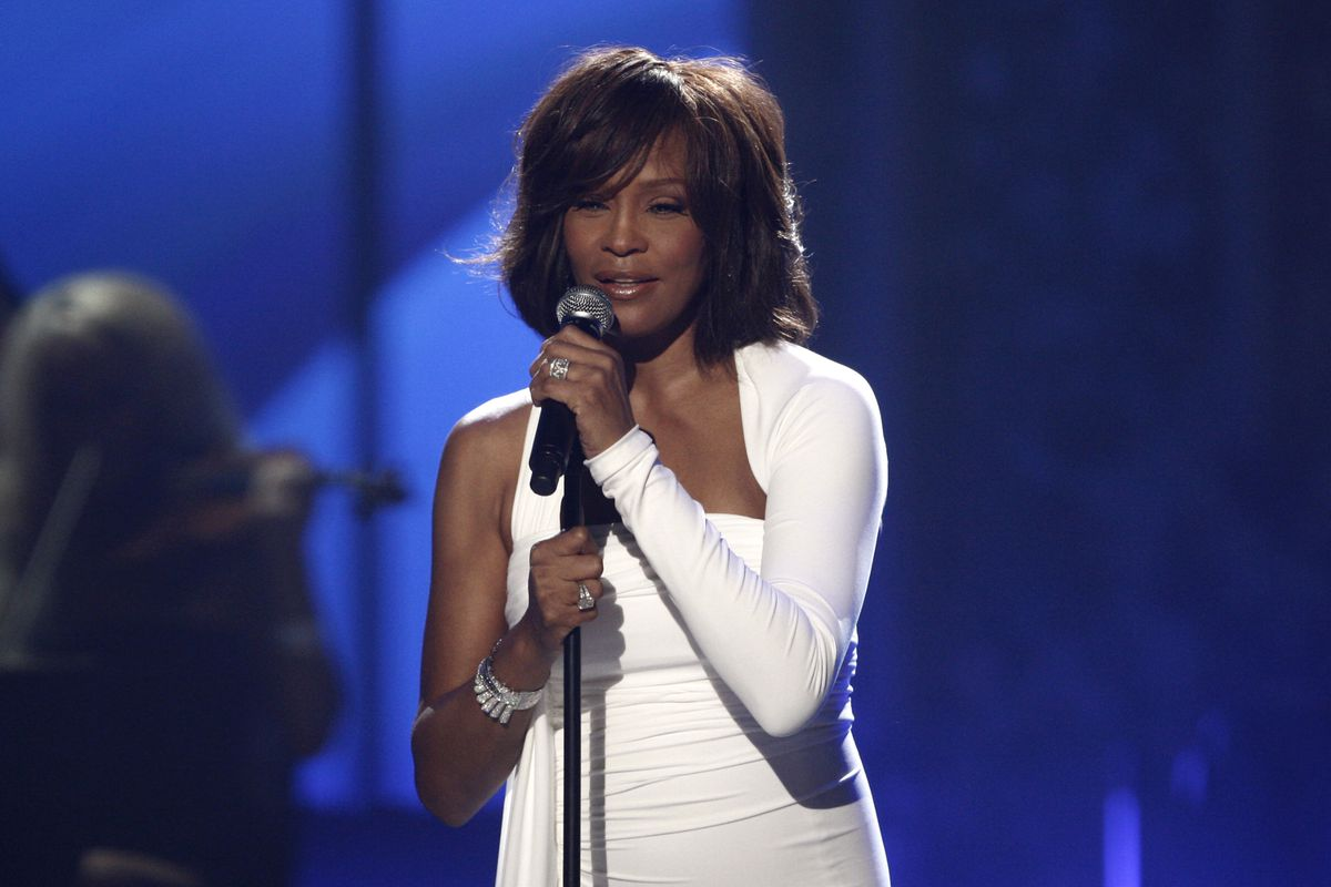 Whitney Houston performs at the 37th Annual American Music Awards in Los Angeles in 2009.