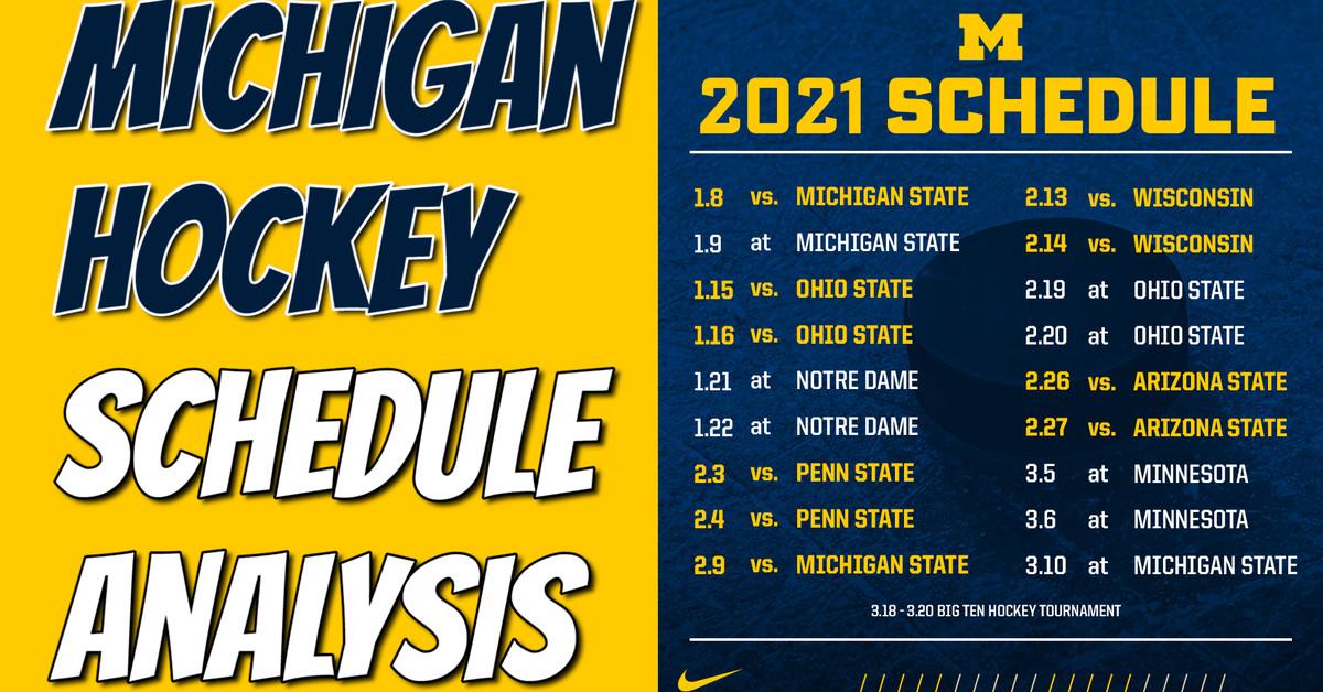 Michigan Wolverines Schedule Hockey
