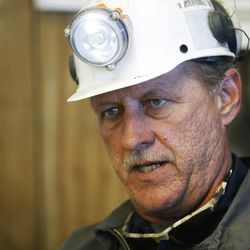 Russel Jensen, a maintenance superintendent, talks about the Bronco Utah Mine near Emery on Wednesday, March 29, 2017.