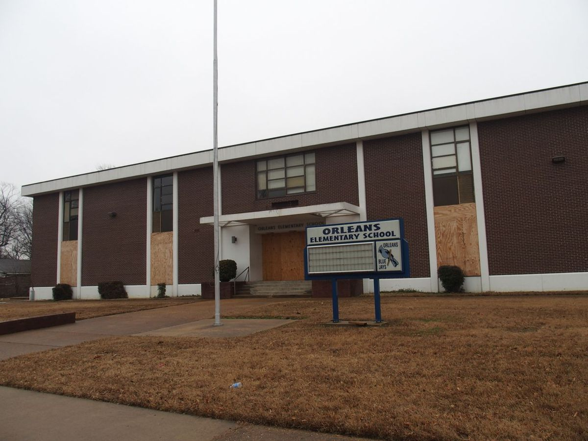 Orleans Elementary School is closed and boarded up today – one of 16 schools in Memphis shuttered since 2012.