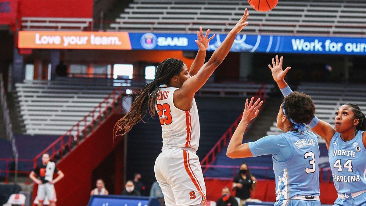1.19.21 | Kiara Lewis versus UNC Photo byMichael J. Okoniewski, Syracuse Athletics