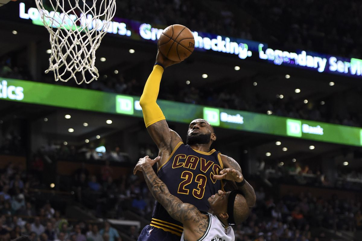 057c7c39e54 Isaiah Thomas  foolhardy attempt to stop LeBron James sums up the Eastern  Conference Finals