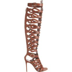 "For our Rihanna days. Altuzarra Knee-High Gladiator Thong Sandal $1,629 at <a href=""http://www.barneys.com/Altuzarra-Knee-High-Gladiator-Thong-Sandal/502507560,default,pd.html?cgid=womens-shoes&index=28"">Barneys</a>."