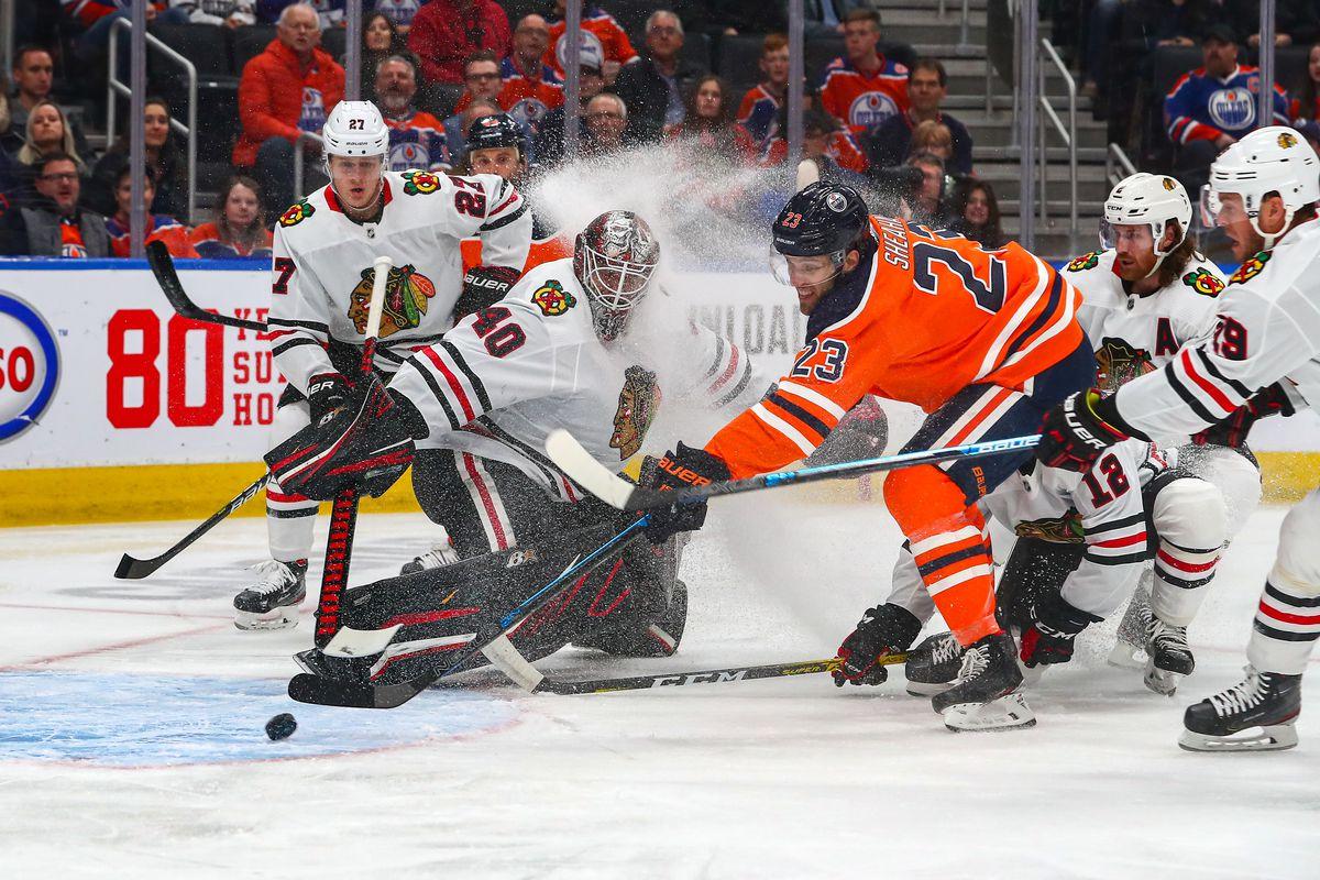 NHL: FEB 11 Blackhawks at Oilers