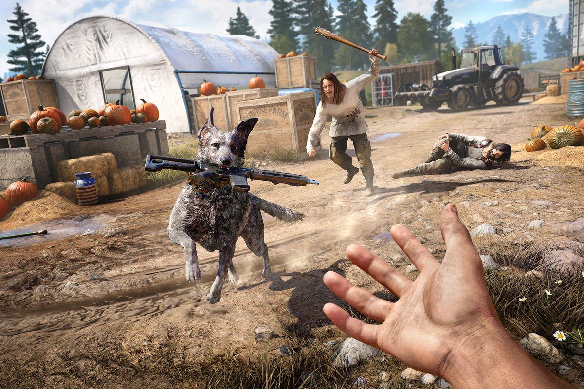 Far Cry 5 - Boomer bringing you a gun