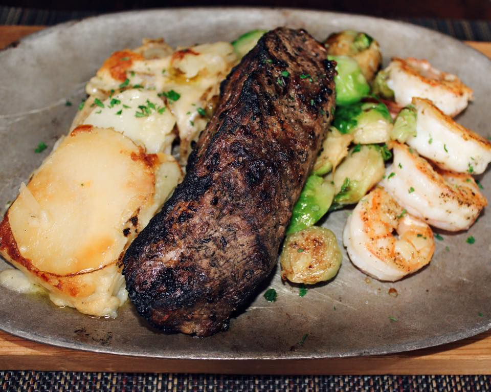 Surf and turf at Black & Blue Steak and Crab