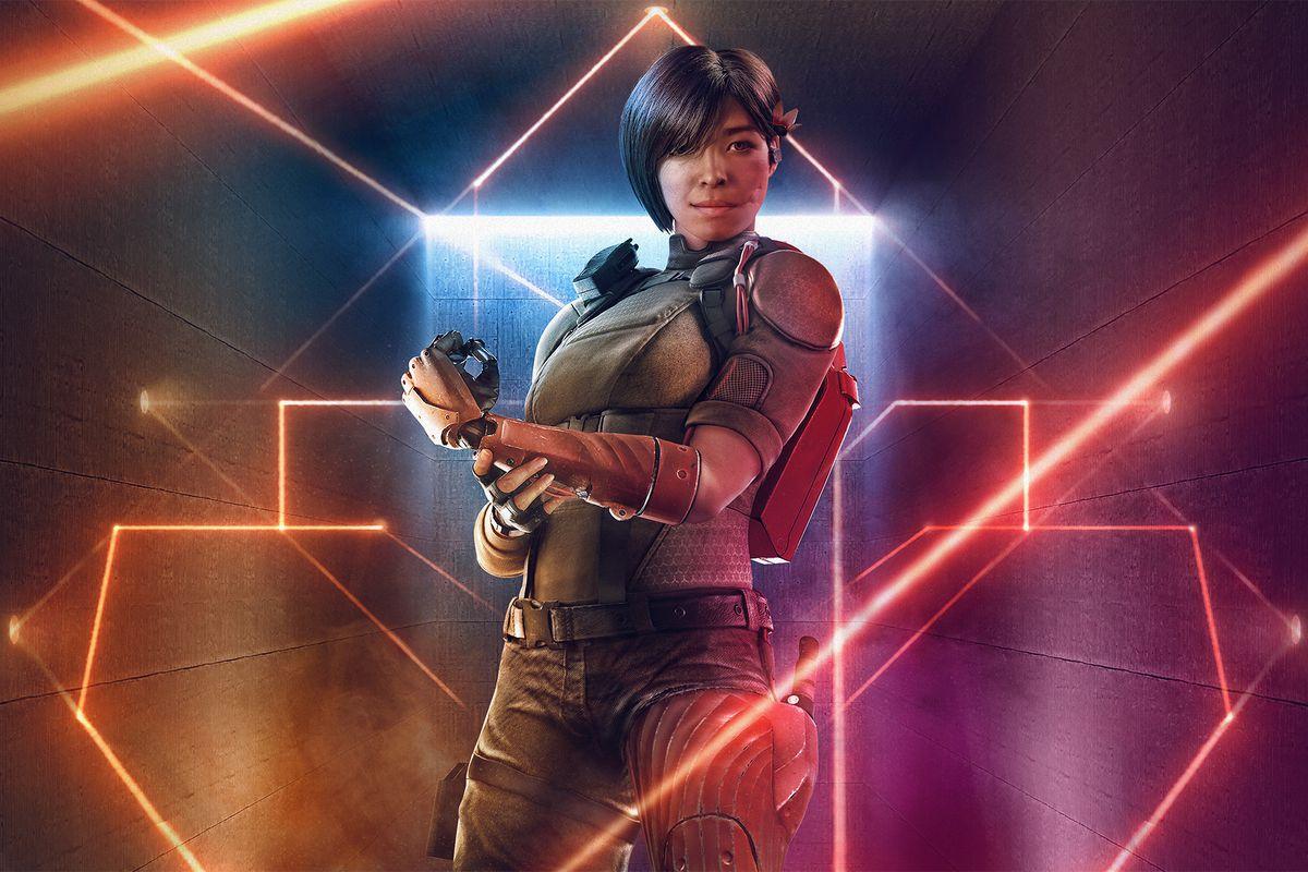 Rainbow Six Siege - key art of Aruni, the game's new Operator